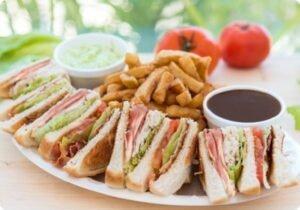 Club sandwich in summer time